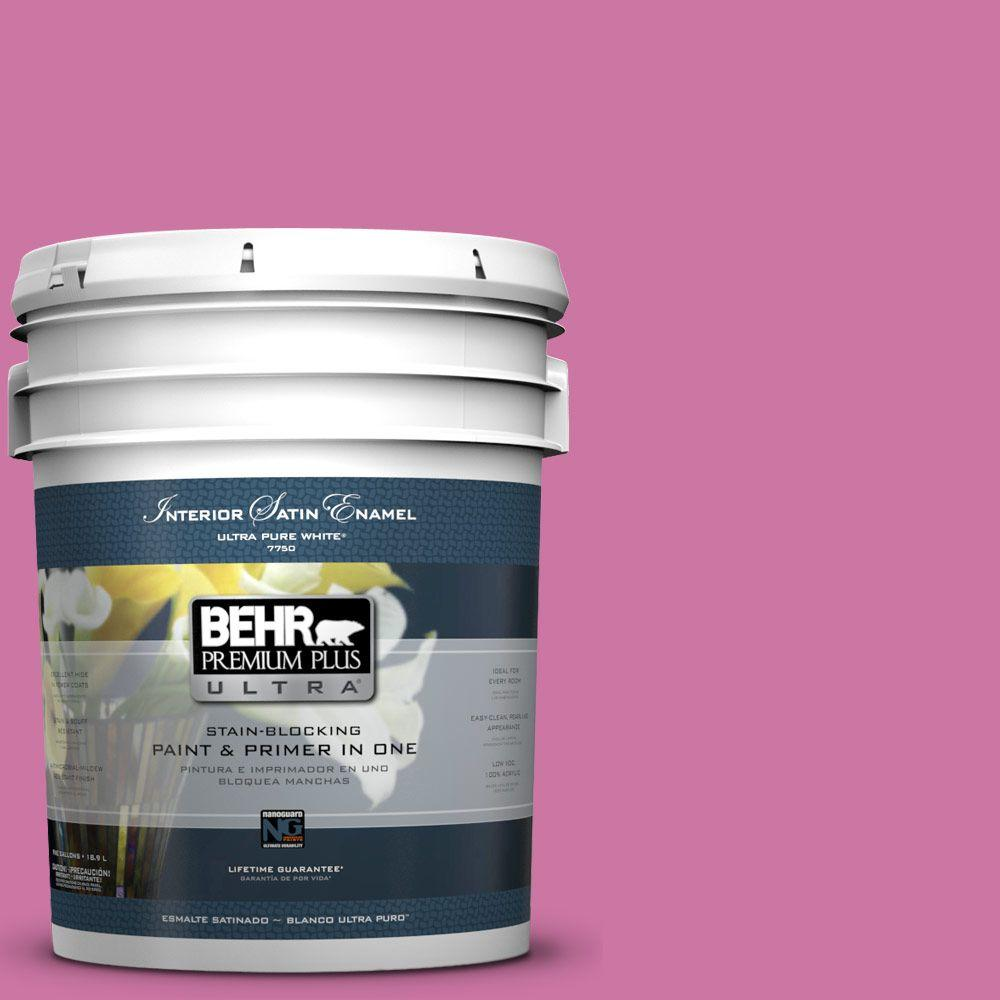 BEHR Premium Plus Ultra 5-gal. #P120-4 Heart Breaker Satin Enamel Interior Paint