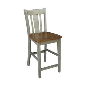San Remo 24 in. Hickory / Stone Counter height Stool