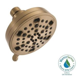 Delta H2Okinetic 5-Spray 4.19 in. Fixed Shower Head