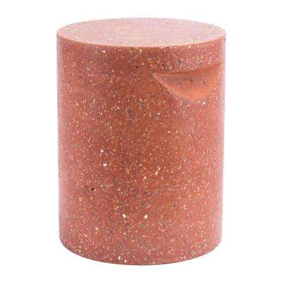 Terrazzo Red Stone Outdoor Side Table