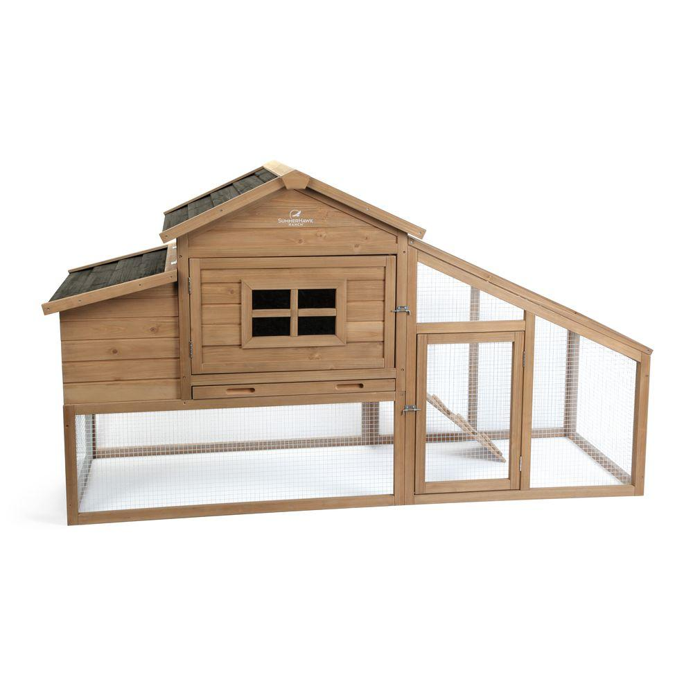 Summerhawk ranch macchiato coop 34732 the home depot for Chicken coop for 2 chickens