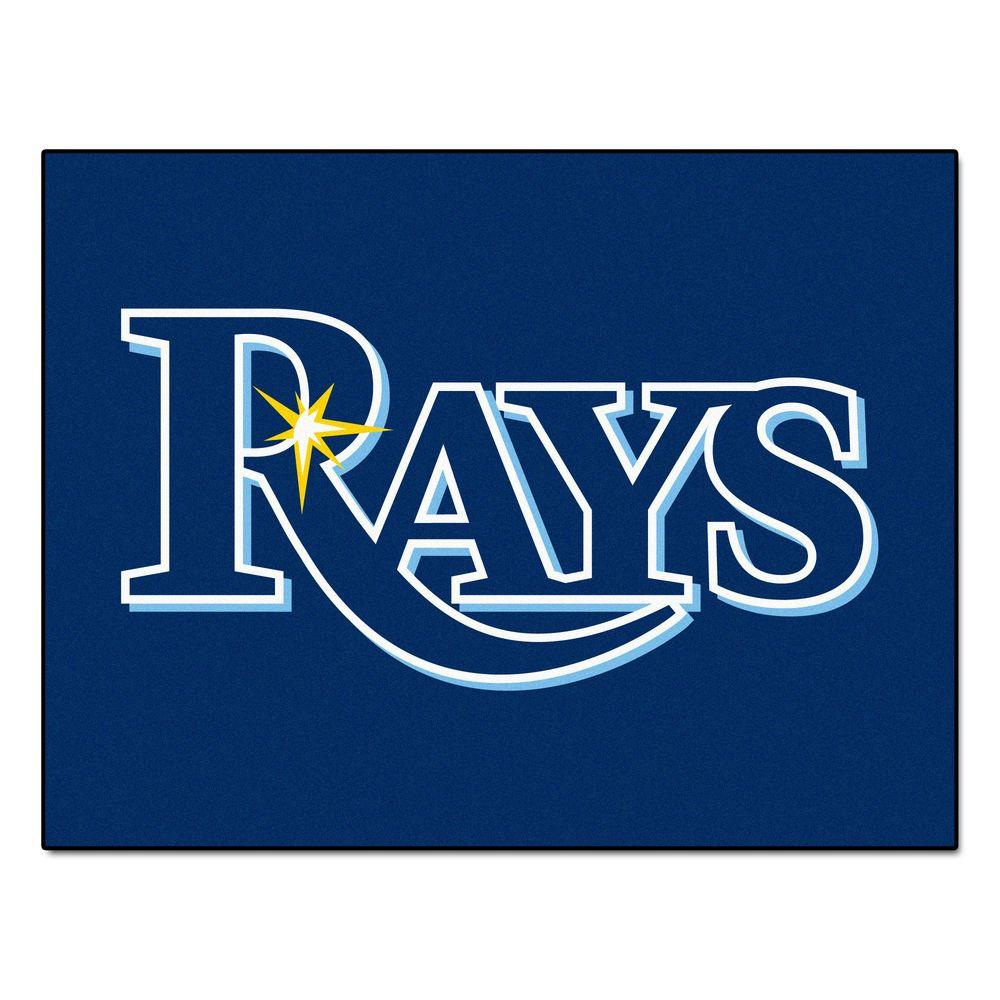 FANMATS MLB Tampa Bay Rays Blue 2 ft. 10 in. x 3 ft. 9 in. Indoor Area Rug-6349 - The Home Depot