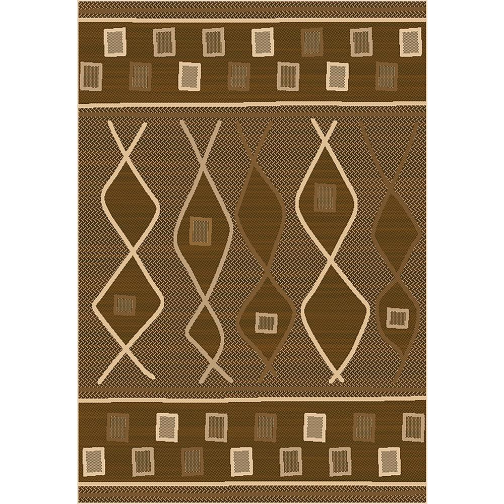 Exceptionnel MAXY HOME Sunshine Collection Brown 8 Ft. X 10 Ft. Outdoor Patio Area Rug