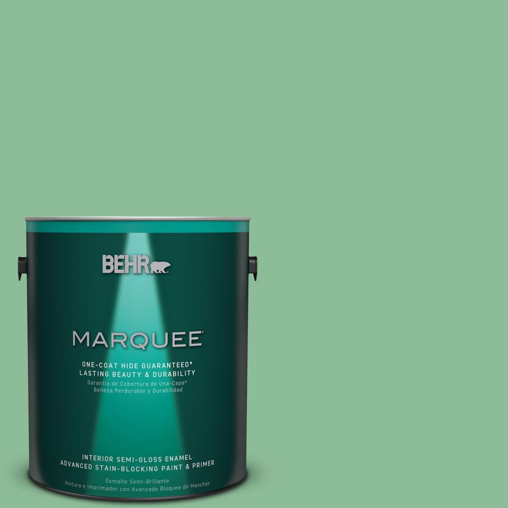 1 gal. #M410-4 Garden Swing One-Coat Hide Semi-Gloss Enamel Interior Paint