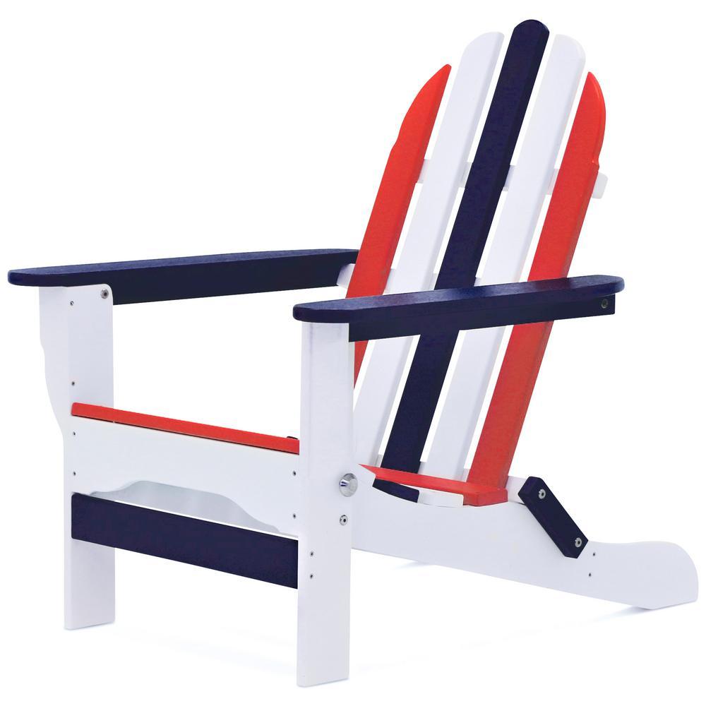Icon Patriot Folding Recycled Plastic Adirondack Chair