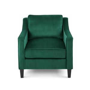 Milo Green Velvet Upholstered Club Chair
