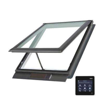 21 x 26-7/8 in. Solar Powered Fresh Air Venting Deck-Mount Skylight with Laminated Low-E3 Glass