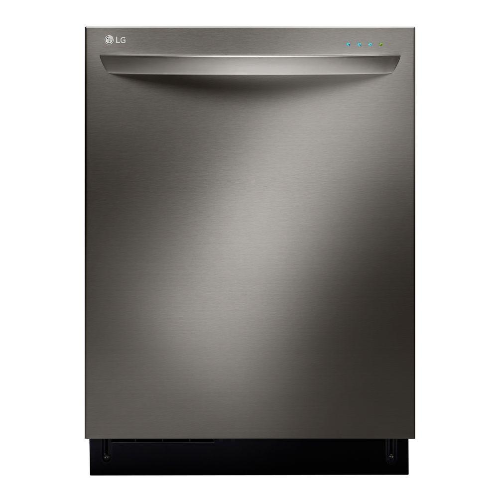 LG Electronics Top Control Tall Tub Dishwasher with 3rd Rack and Steam in Black Stainless Steel with Stainless Steel Tub