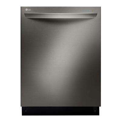 Top Control Dishwasher with 3rd Rack and Steam in Black Stainless Steel with Stainless Steel Tub