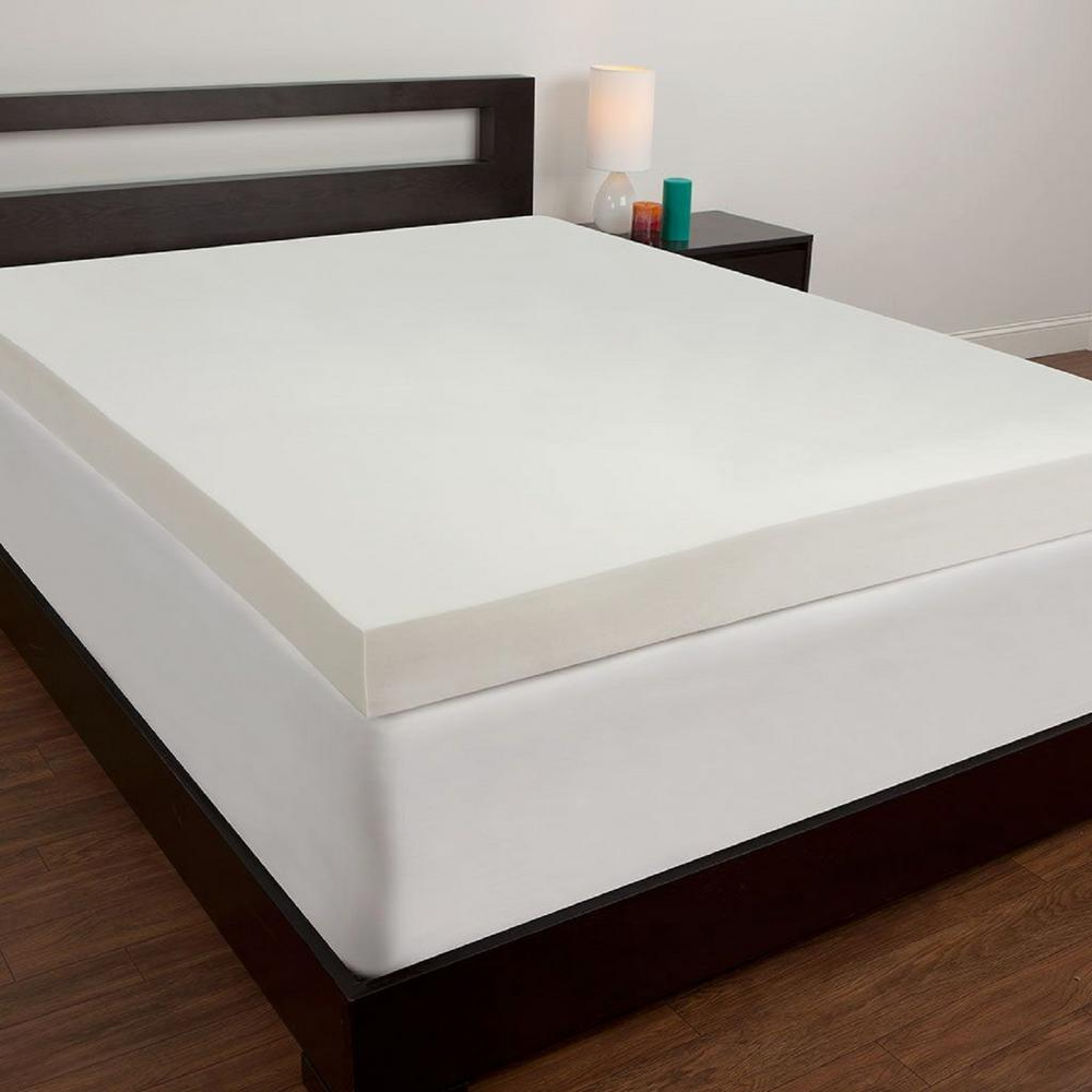 comfort revolution full memory foam mattress topper f02 00006 fl0 the home depot. Black Bedroom Furniture Sets. Home Design Ideas