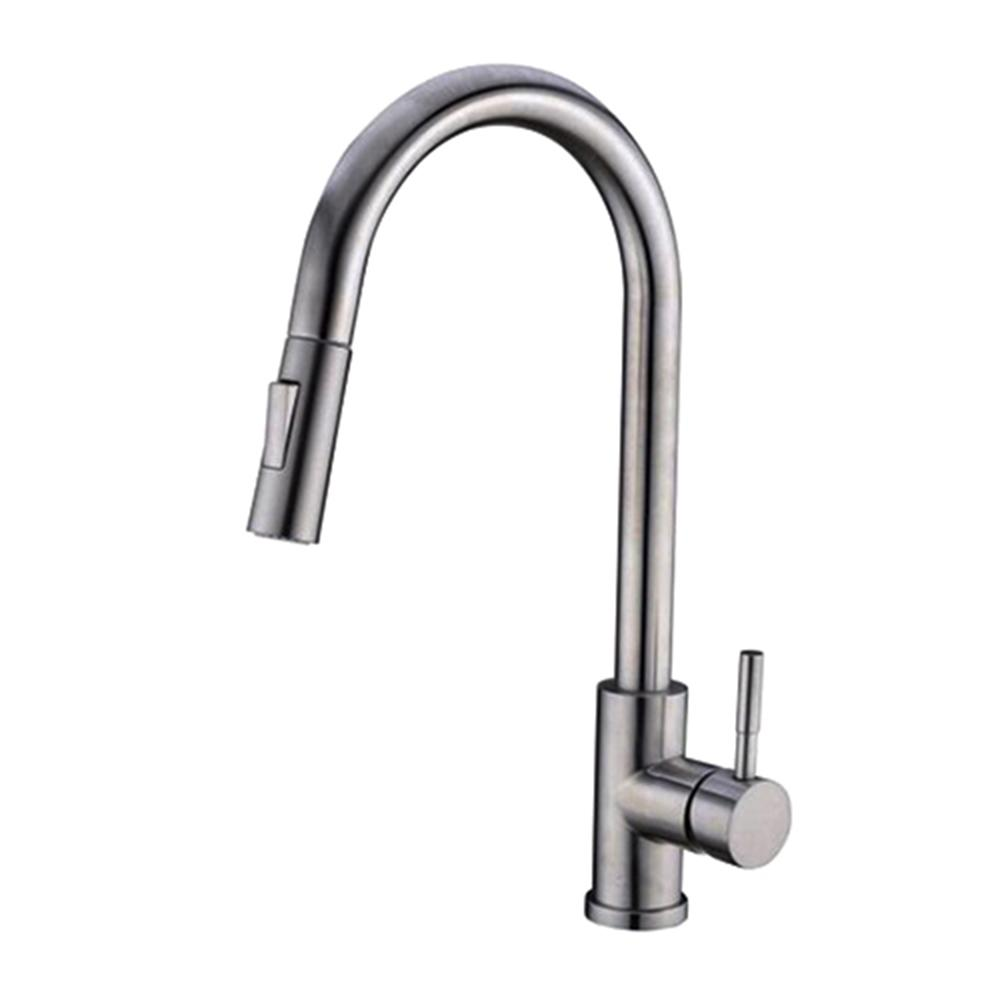 Vanity Art 7.87 in. Single-Handle Pull-Down Sprayer Kitchen Faucet in Chrome, Polished Chrome was $124.0 now $86.8 (30.0% off)