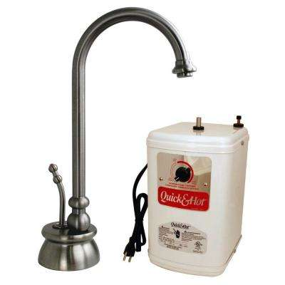 Calorah Single-Handle Hot Water Dispenser Faucet in Stainless Steel with Hot Water Tank