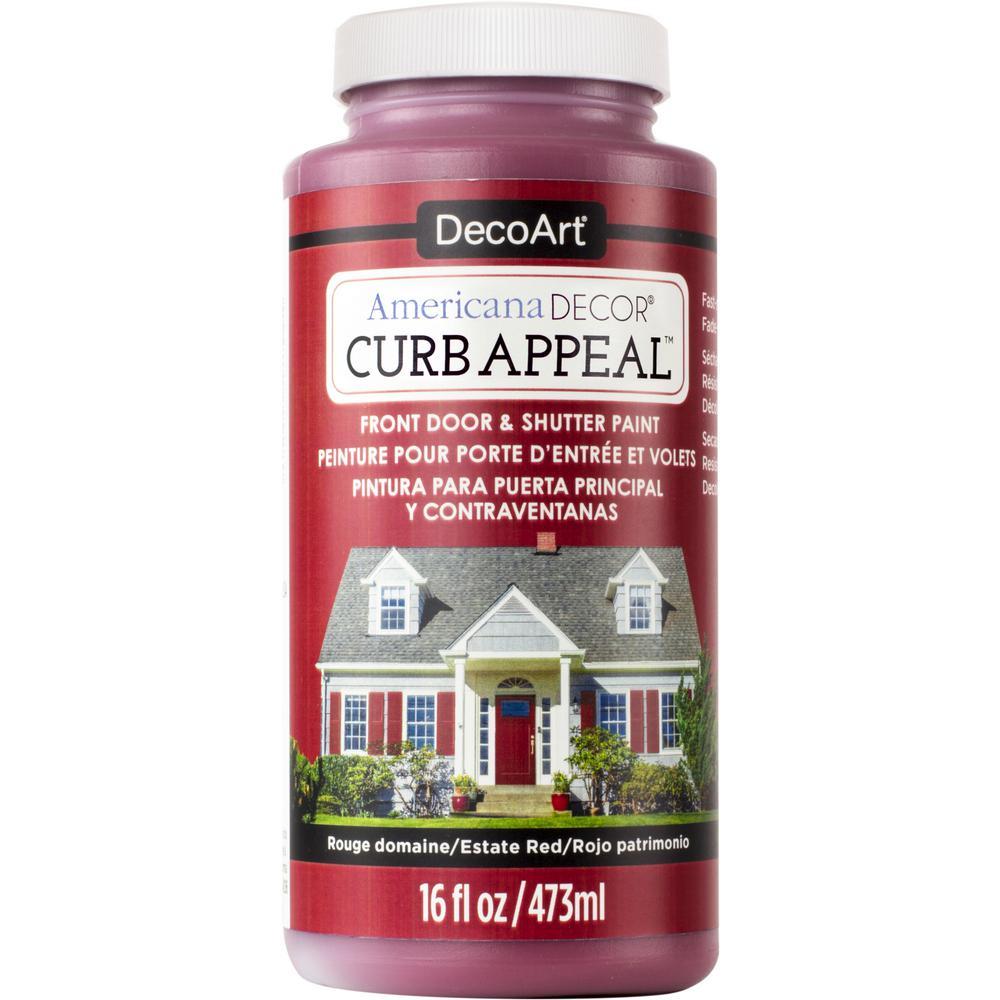 Americana Decor Curb Appeal Curb Appeal 16 oz. Estate Red...
