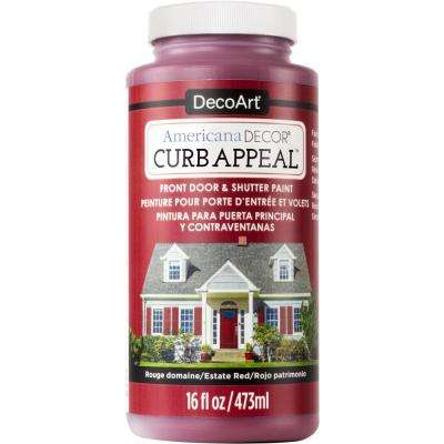 Curb Appeal 16 oz. Estate Red Acrylic Paint