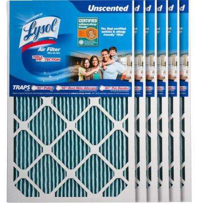 16 in. x 25 in. x 1 in. Certified Asthma and Allergy Triple Protection Air Filter (6-Pack)