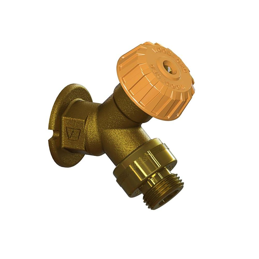 1/2 in. x FPT Mild Climate Brass Wall Hydrant with Single-Check