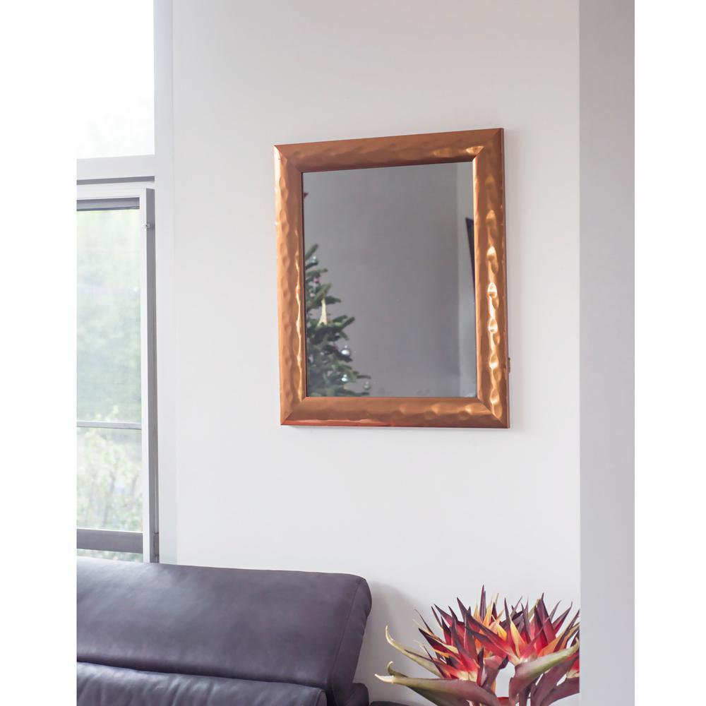 24.75 in. x 20.75 in. Copper Metallic Impressions Mirror