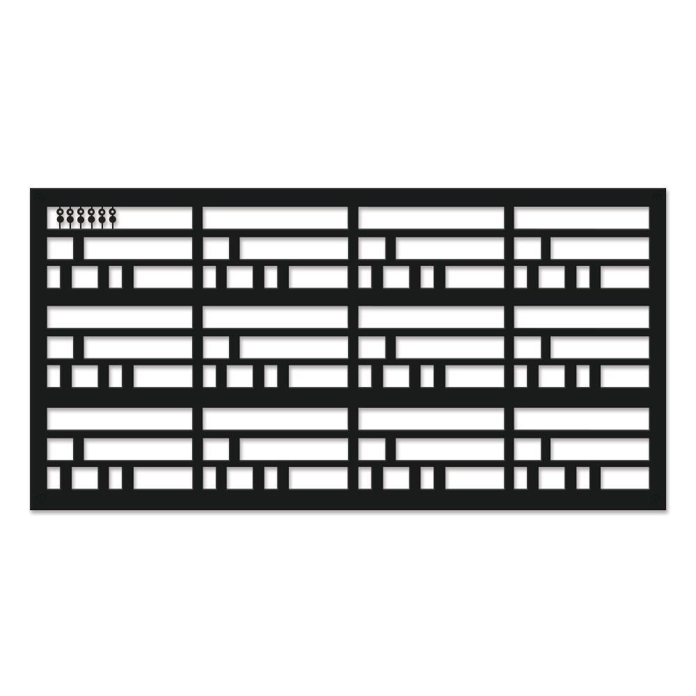 Wright 48 in. x 24 in. Black Polypropylene Multi-Purpose Decorative Panel