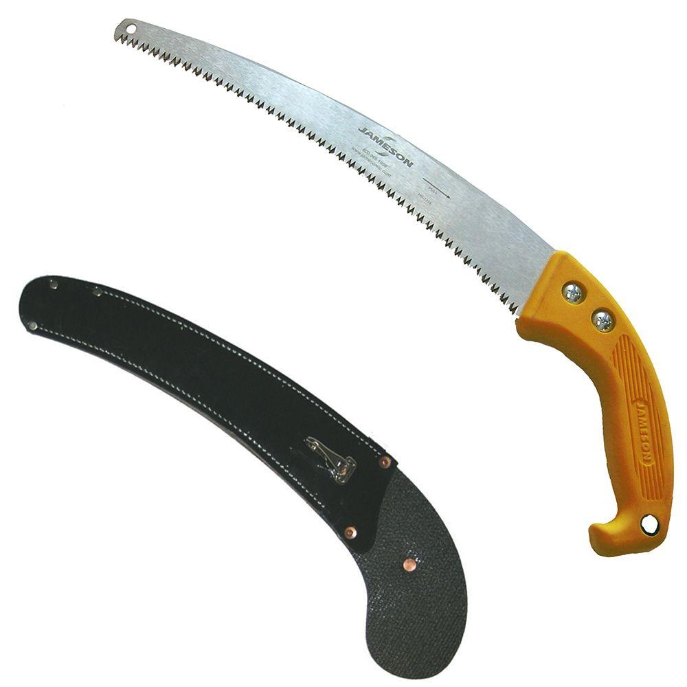 Jameson 16 in. Barracuda Tri-Cut Hand Saw with Rubber Belting Scabbard