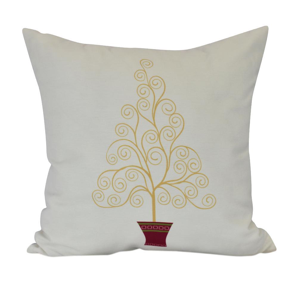 Click here to buy  26 inch Filigree Tree Geometric Print Decorative Pillow.