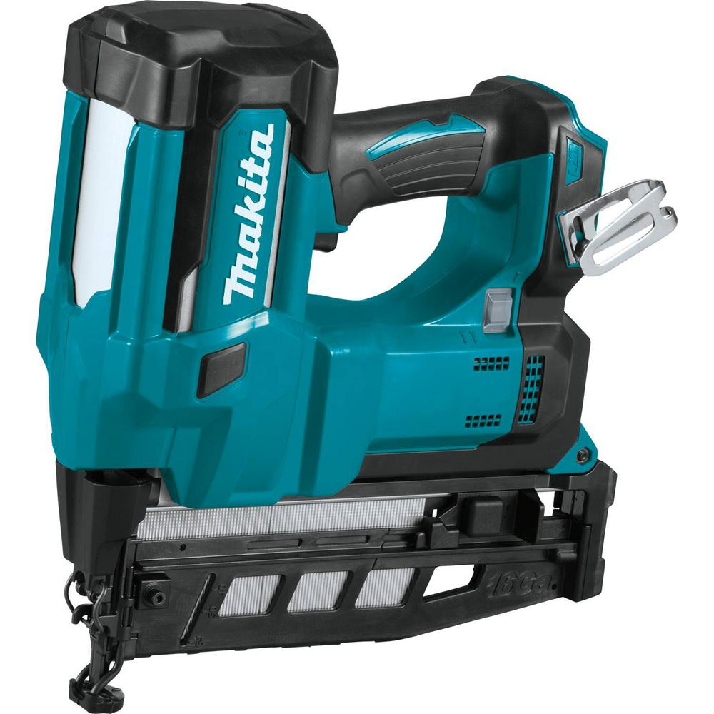 Makita 18-Volt LXT Lithium-Ion 16-Gauge Cordless 2-1/2 in. Straight Finish Nailer (Tool Only)