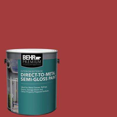 1 gal. Red Semi-Gloss Direct to Metal Interior/Exterior Paint