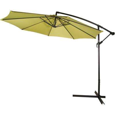 10 ft. Deluxe Cantilever Polyester Offset Patio Umbrella