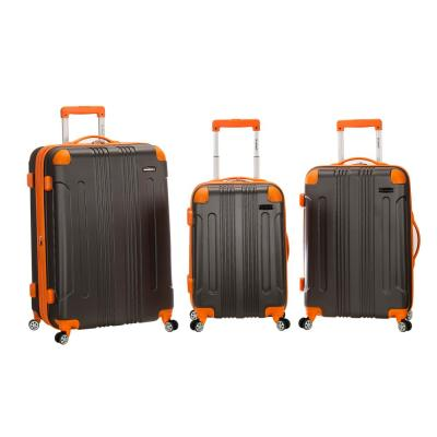 Rockland Sonic 3-Piece Hardside Spinner Luggage Set, Charcoal
