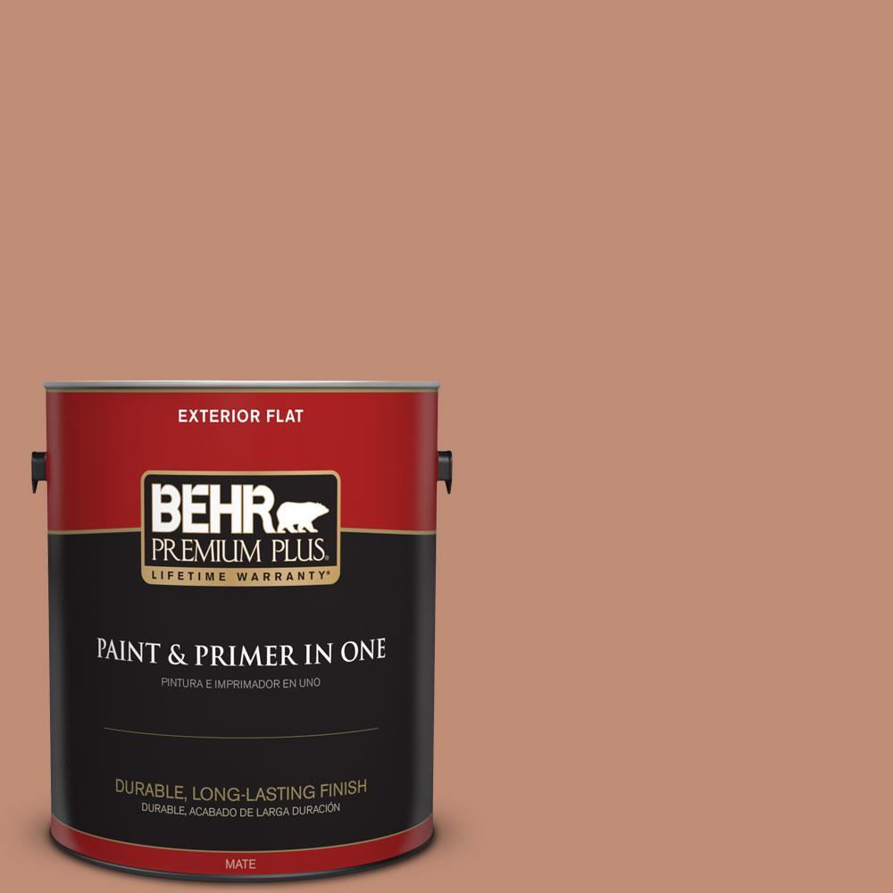 BEHR Premium Plus 1-gal. #230F-5 Suntan Glow Flat Exterior Paint