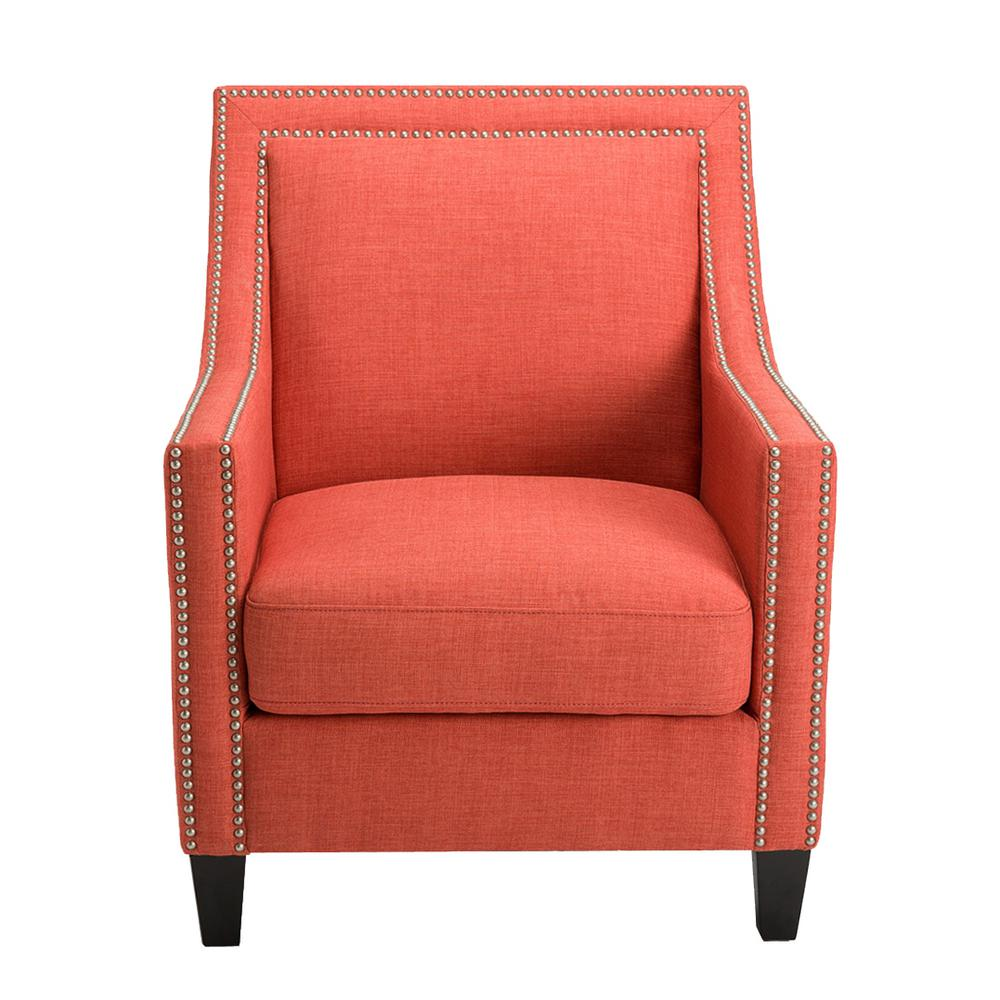Homepop Edwin Coral Arm Chair