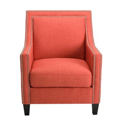 Outstanding Coral Fabric Accent Chairs Chairs The Home Depot Evergreenethics Interior Chair Design Evergreenethicsorg