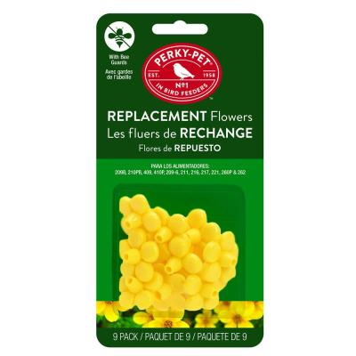 Hummingbird Feeder Yellow Replacement Flowers (9-Count)