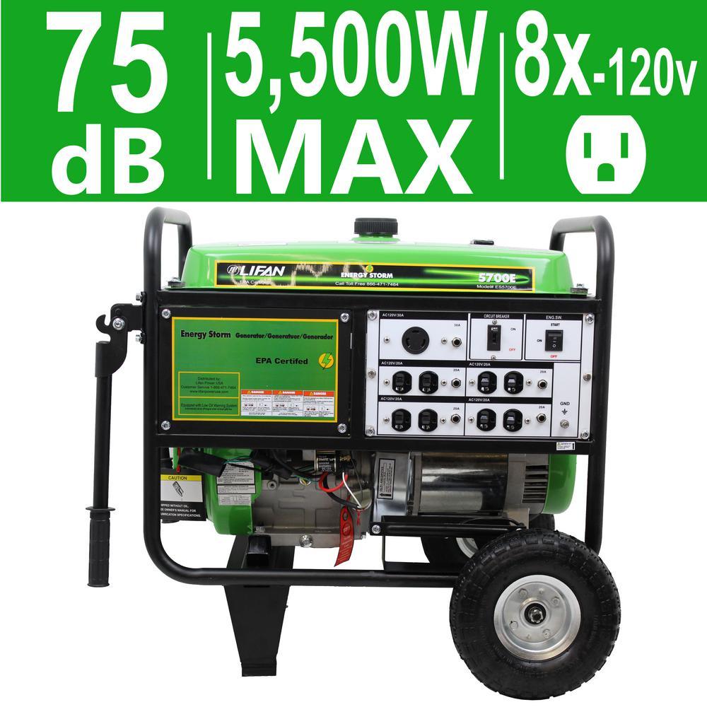 Energy Storm 5,500-Watt 389cc 13 MHP Gasoline Powered Electric Start Portable