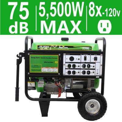 Energy Storm 5,500-Watt 389cc 13 MHP Gasoline Powered Electric Start Portable Generator