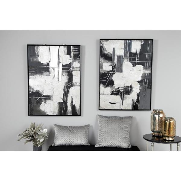 Litton Lane Abstract Painting Framed Canvas Wall Art 87794