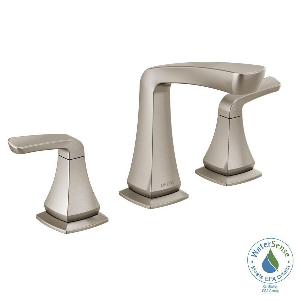 Shop Delta Windemere Brushed Nickel 2 Handle Widespread: Delta Vesna 8 In. Widespread 2-Handle Bathroom Faucet In