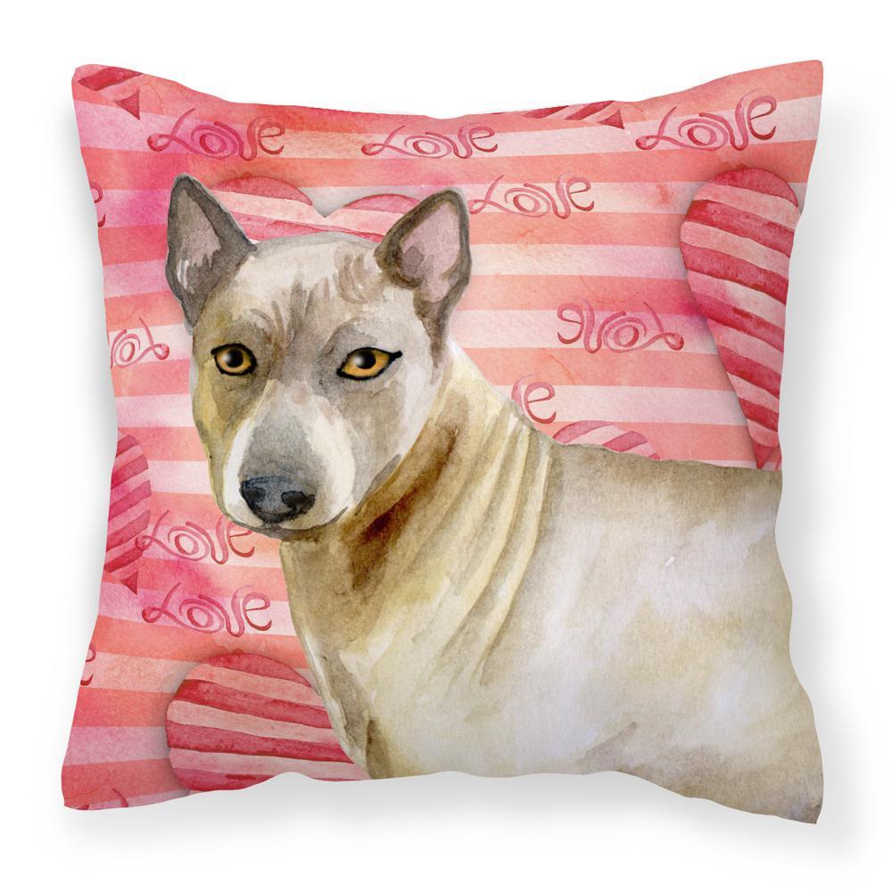 14 in. x 14 in. Multi-Color Lumbar Outdoor Throw Pillow Thai Ridgeback Love