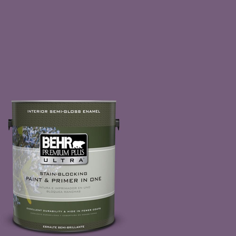 1 gal. #660D-6 Zinfandel Semi-Gloss Enamel Interior Paint and Primer in