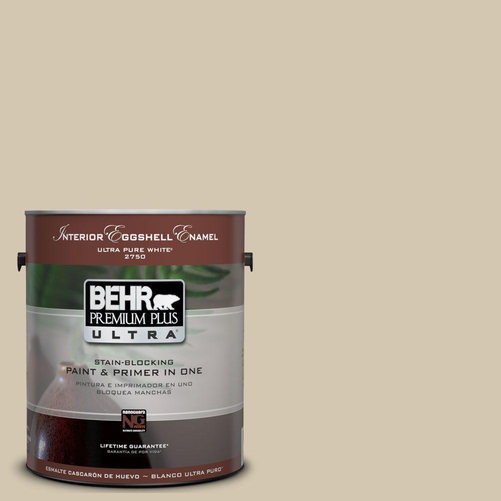 BEHR Premium Plus Ultra 1-Gal. #UL180-9 Prairie House Interior Eggshell Enamel Paint