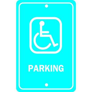 Brady 18 inch x 12 inch Aluminum Handicapped Parking Sign by Brady