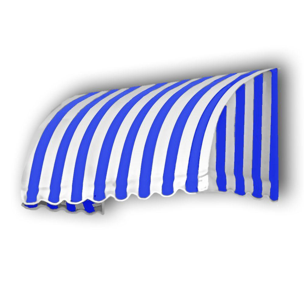 AWNTECH 50 ft. Savannah Window/Entry Awning (44 in. H x 36 in. D) in Bright Blue/White Stripe