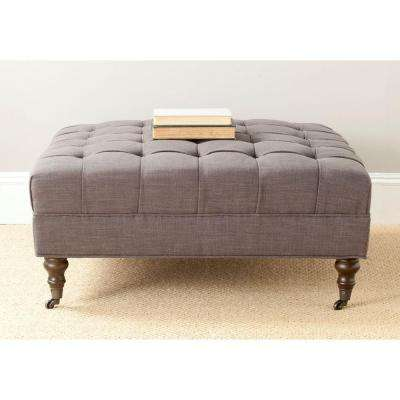 Barney Charcoal Brown Accent Ottoman