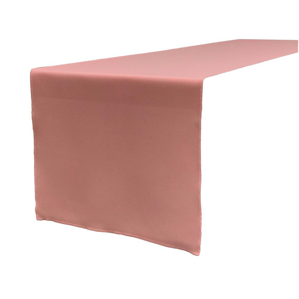 LA Linen 14 In. X 108 In. Dusty Rose Polyester Poplin Table Runner