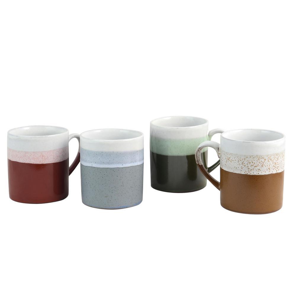 Terra Firma 23 oz. Assorted Color Mug (Set of 4)