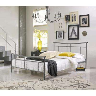 Monroe Matte Grey Full Platform Bed