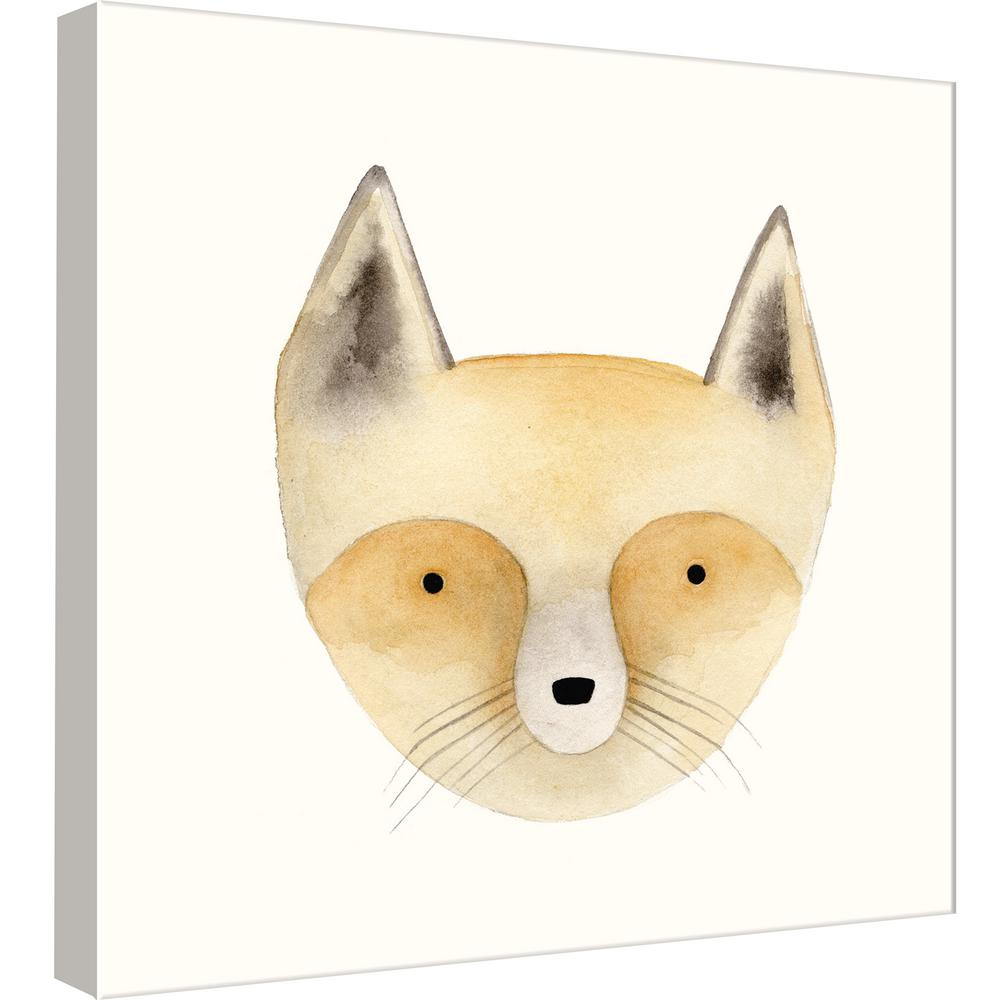 PTM Images 15.in x 15.in \'\'Fox Watercolor Face\'\' Printed Canvas Wall ...