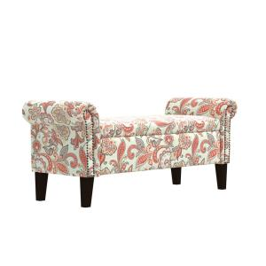 Swell Handy Living Rose Red Multi Floral Garden Print Rolled Arm Gmtry Best Dining Table And Chair Ideas Images Gmtryco