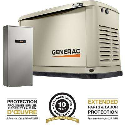 11000-Watt (LP)/10000-Watt (NG) Air-Cooled Standby Generator with Wi-Fi and 16 Circuit 100 Amp NEMA3 Transfer Switch