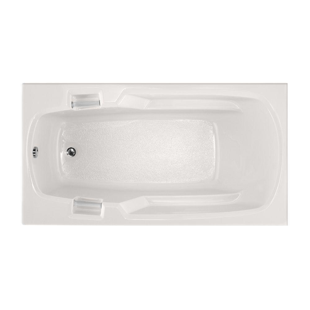 Studio 60 in. Acrylic Rectangular Drop-in Non-Whirlpool Bathtub in White