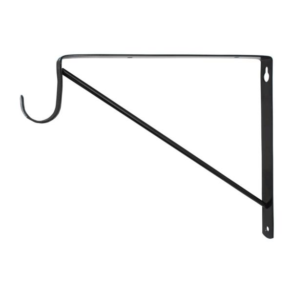 Black Heavy Duty Shelf Bracket and Rod Support
